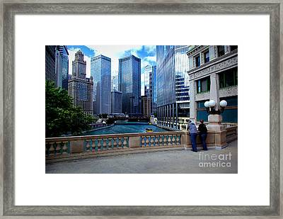 Summer Breeze On The Chicago River - Color Framed Print