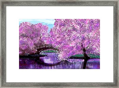 Summer Bridge Framed Print