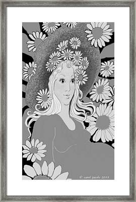 Framed Print featuring the digital art Summer by Carol Jacobs