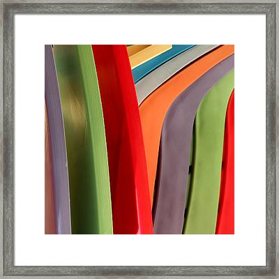 Summer Chairs Framed Print by Art Block Collections