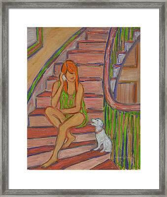 Summer Chat Framed Print by Xueling Zou
