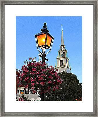 Summer Church And Lantern Framed Print