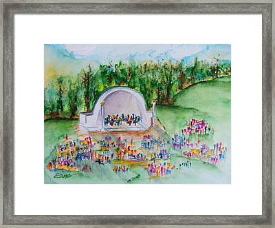 Summer Concert In The Park Framed Print