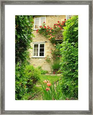 Summer Cottage Framed Print