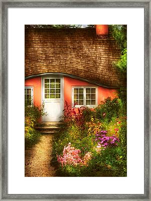 Summer - Cottage - Little Pink Play House Framed Print by Mike Savad