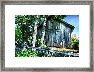 Summer Country Barn Framed Print