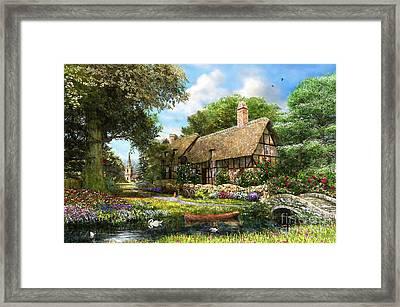Summer Country Cottage Framed Print