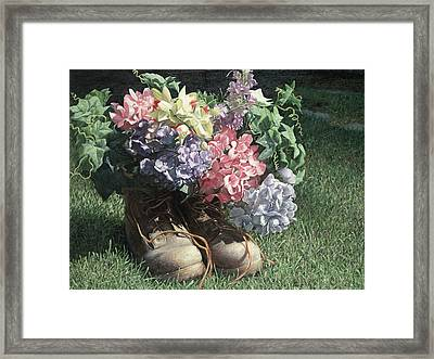 Summer Dancing Shoes Framed Print by Julia O'Malley-Keyes