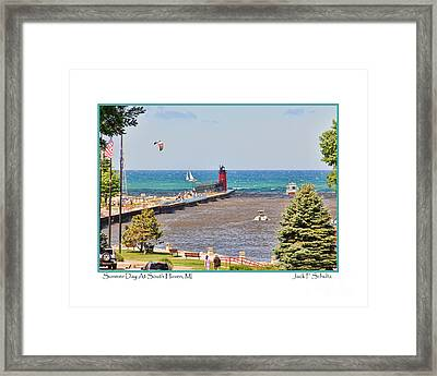 Summer Day At South Haven Mi Framed Print