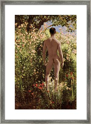 Summer Day In The Garden   Framed Print