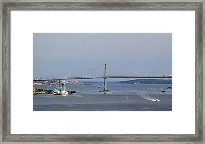 Summer Day On Halifax Harbour Framed Print by George Cousins