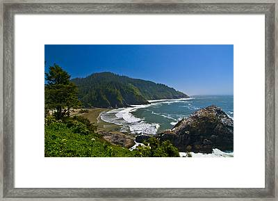 Summer Day On The Oregon Coast Framed Print