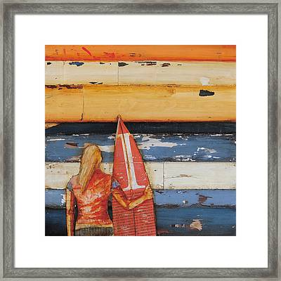Summer Days 1980's Framed Print
