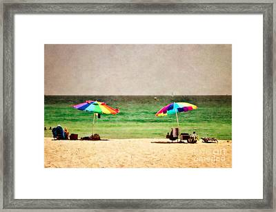 Summer Days At The Beach Framed Print by Scott Pellegrin