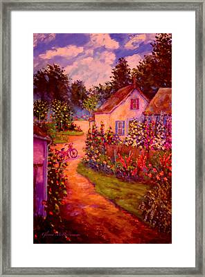 Summer Days At The Cottage Framed Print by Glenna McRae