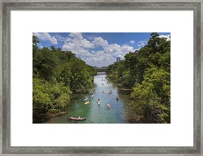 Summer Days At Zilker Park 3 Framed Print by Rob Greebon