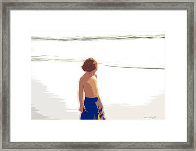 Framed Print featuring the photograph Summer Days by Kathy Ponce