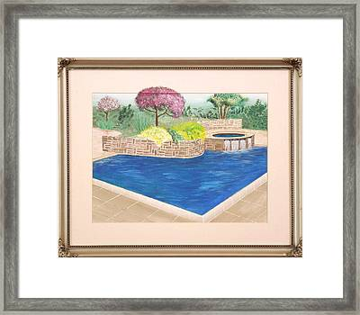 Framed Print featuring the painting Summer Days by Ron Davidson