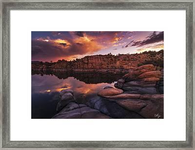 Summer Dells Sunset Framed Print