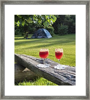 Summer Dream Cocktails Framed Print