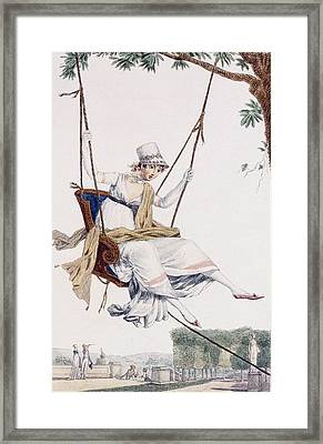Summer Dress Framed Print by Philibert Louis Debucourt