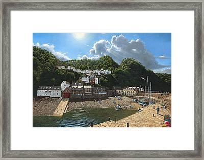 Summer Evening Clovelly North Devon Framed Print by Richard Harpum