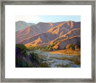 Summer Evening Eaton Canyon Framed Print