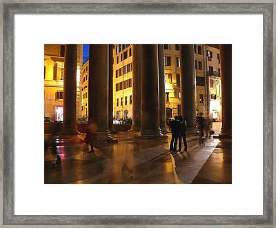 Summer Evening In Rome Framed Print by Evelyn Tambour
