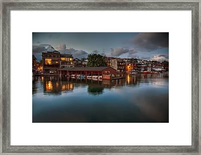 Summer Evening In Skaneateles Framed Print