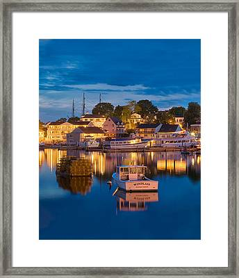 Summer Evening On Boothbay Harbor Framed Print