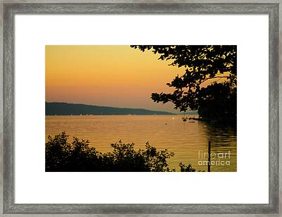 Summer Evening On Cayuga Lake Framed Print