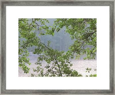 summer evening on Lake Saimaa Framed Print