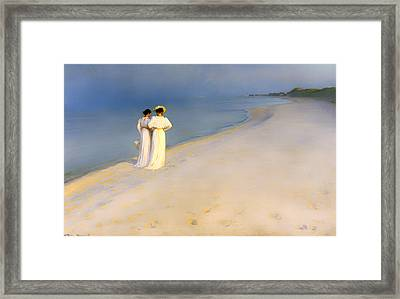 Summer Evening On Skagen's Beach Framed Print