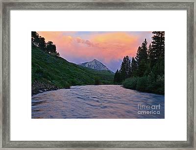 Summer Evening Reflections Framed Print