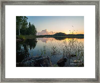 Summer Evening To Remember Framed Print