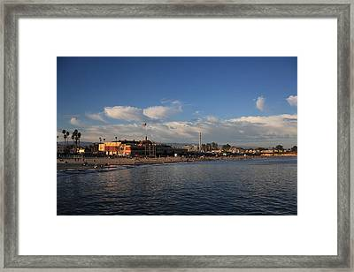 Summer Evenings In Santa Cruz Framed Print