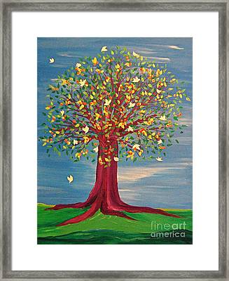 Summer Fantasy Tree Framed Print