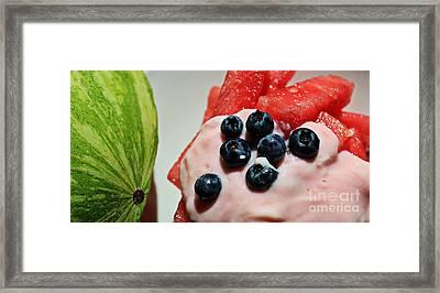 Summer Favorite Cool Snack - Fruit Framed Print by Barbara Griffin
