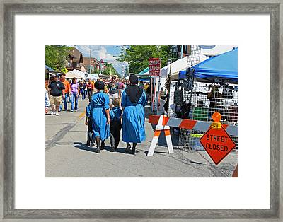 Summer Festival In Berne Indiana II Framed Print by Suzanne Gaff
