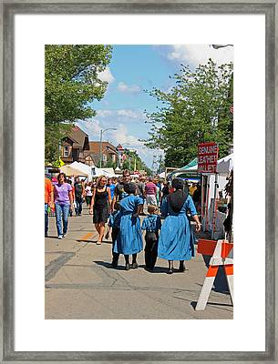 Summer Festival In Berne Indiana Framed Print