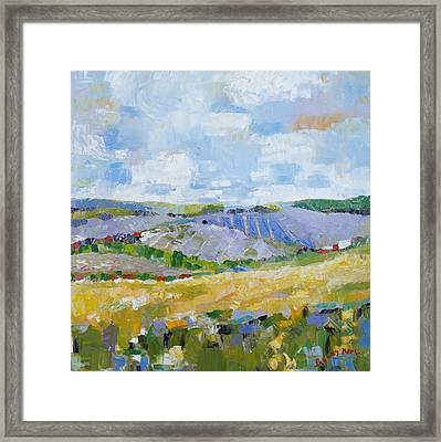 Summer Field 3 Framed Print by Becky Kim