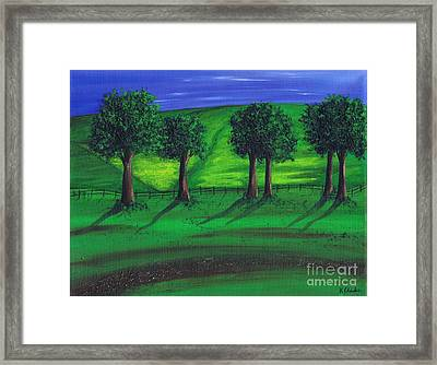 Summer Field Framed Print by Kenneth Clarke