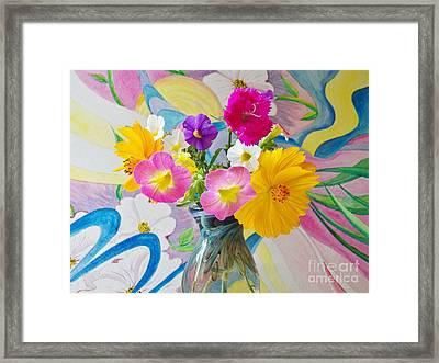 Summer Fiesta Island Framed Print by Judy Via-Wolff