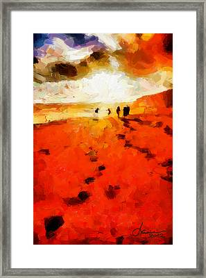 Summer Fire Tnm Framed Print by Vincent DiNovici