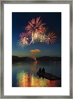 Summer Fireworks Framed Print by Darylann Leonard Photography