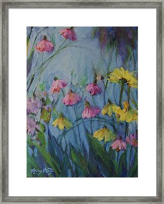 Summer Flower Garden Framed Print