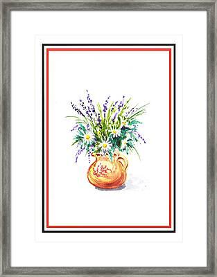 Summer Flowers Bouquet  Framed Print