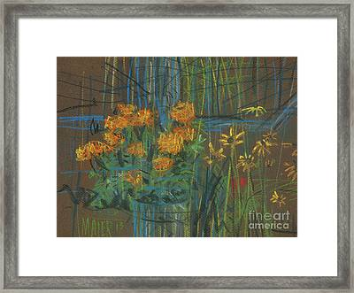 Framed Print featuring the painting Summer Flowers by Donald Maier