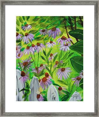 Summer Flowers In Peculiar Mo. Framed Print by Patricia Olson
