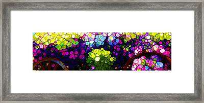 Summer Flowers In The Country Framed Print